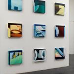 Nine oil paintings on canvas. 40x40x3 cm each.