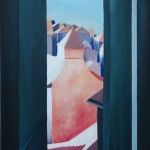 Looking down. Oil on canvas, 129x58 cm