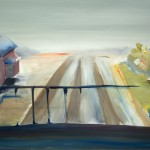 Railway. Oil on paper, 70x100 cm