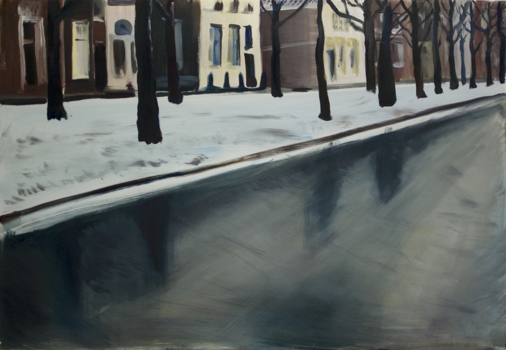 Leiden. Oil on paper, 70x100 cm