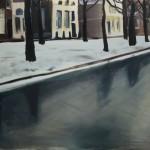 Leiden. Oil on paper, 70x100 cm