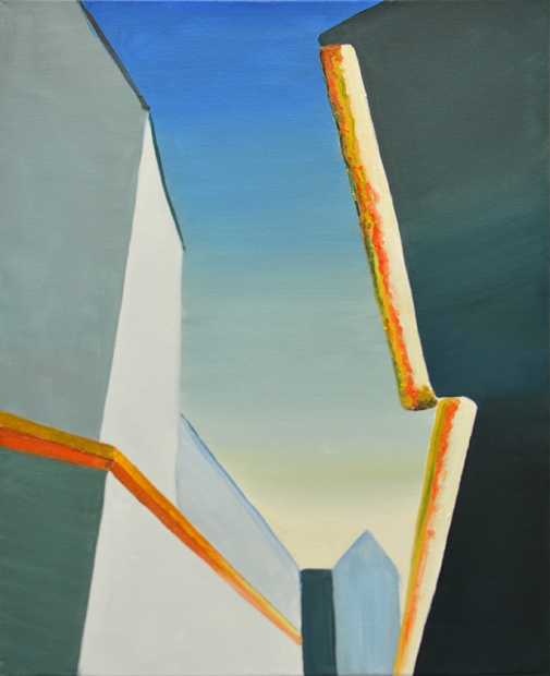 Roofs. Oil on canvas. 40×30 cm