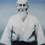 O-Sensei. Oil on canvas. 70×50 cm.