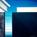 Grey building. Oil on canvas, 100x100 cm
