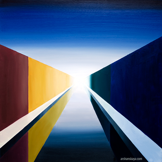 Vanishing point. Oil on canvas, 100x100 cm