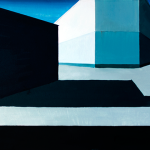 Empty square. Oil on canvas, 58x129 cm