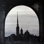 My City. Oil on canvas, 100x100 cm.