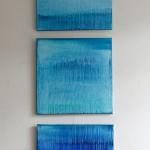 Tears. Oil on linen, 60x60 cm, triptych.