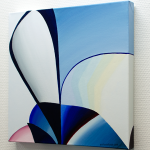 Reflection 16. Oil on canvas. 40×40x3 cm